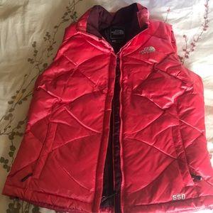 Pink North Face Vest